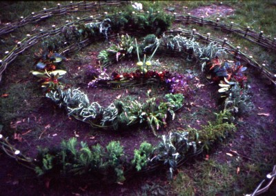 Double Spiral detail Environmental Art Trail Shrewsbury 2002