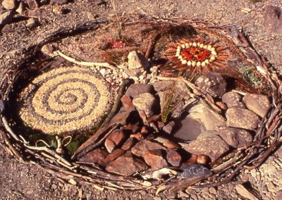 Mandala Lake Vrynwy Organic Sculpture Weekend 1999