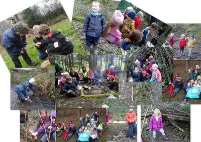 Collage forest school 2015