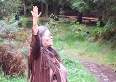 Fiona storytelling in Gwydyr Forest