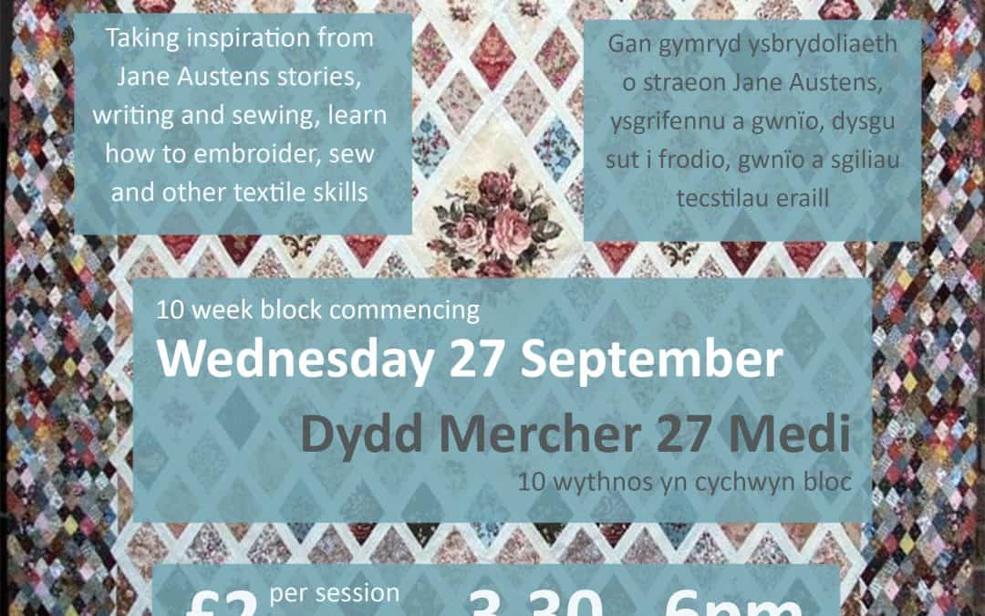 Sewing the Tales of Jane Austen – Machynlleth