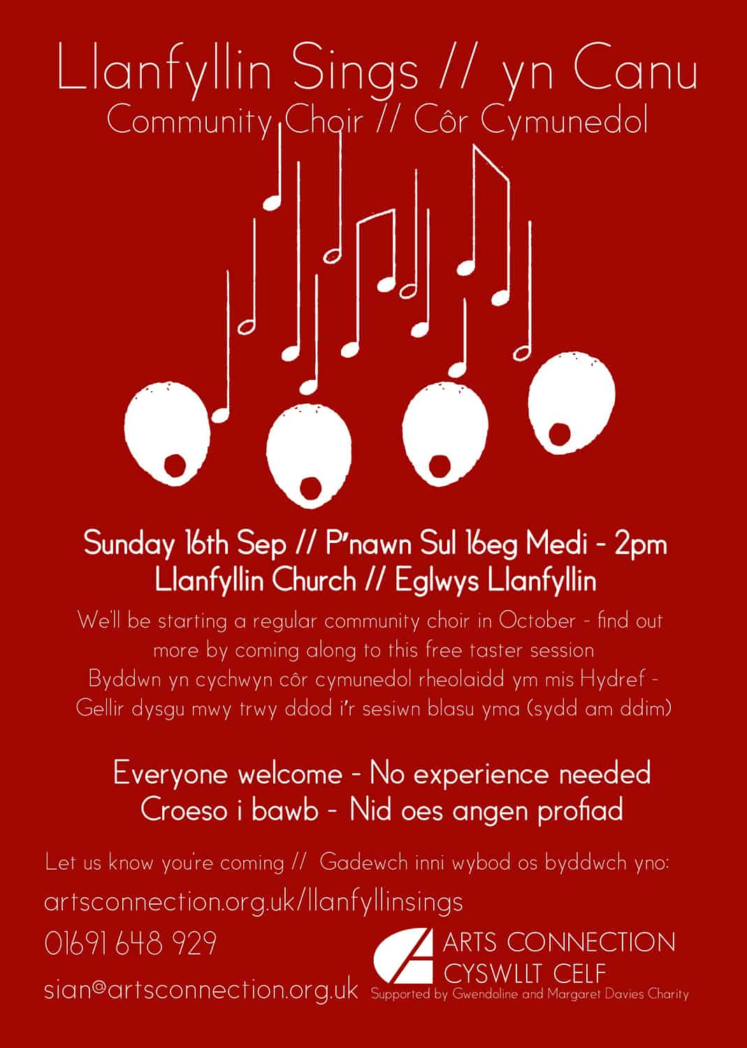 Llanfyllin Sings Taster Session